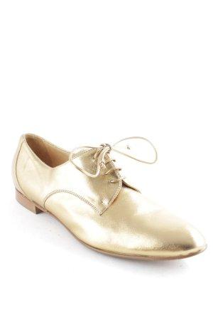 Prego Schnürschuhe goldfarben-braun Elegant