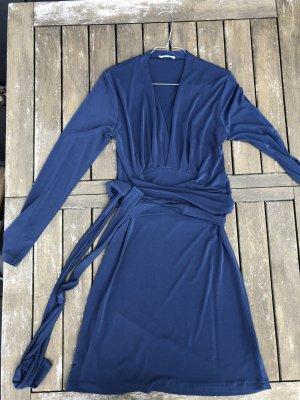 Prego Wickelkleid Blaugrau Gr 36