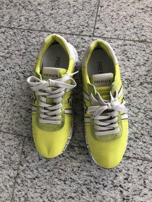 PREMIATA Sneaker wie neu in Limetten gelb