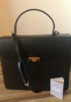 Furla Handbag black-gold-colored leather