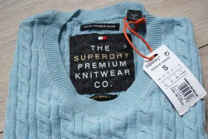 Superdry Cable Sweater light blue