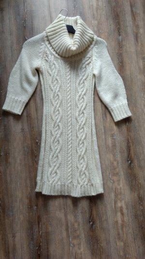 Premium Strickkleid in Grobstrick offwhite Gr. S Neu Mango Suit