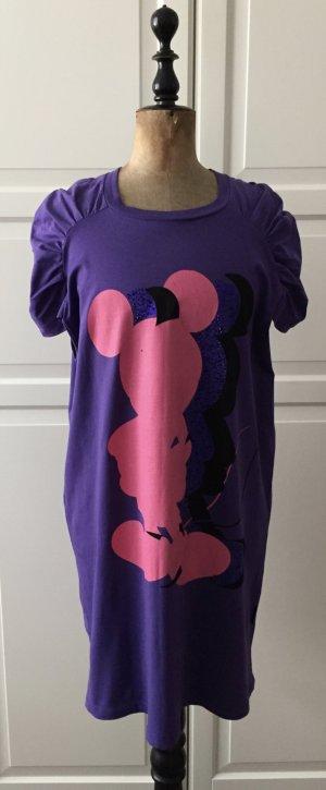 Premium T-Shirt Kleid mit kurzen Ärmeln und Glitzer Mickey Mouse Motiv