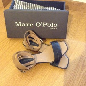Marc O'Polo Strapped Sandals black-sand brown leather