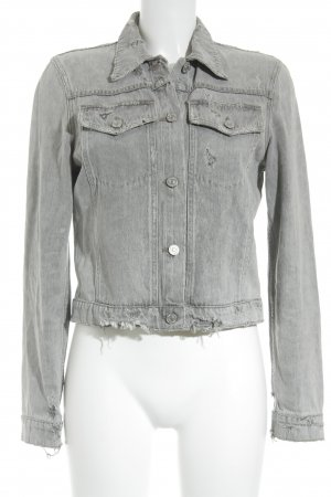 Premium Vintage Jeansjacke grau Destroy-Optik
