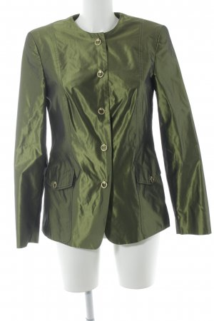 Prestige Elegance Veste chemisier vert gazon élégant