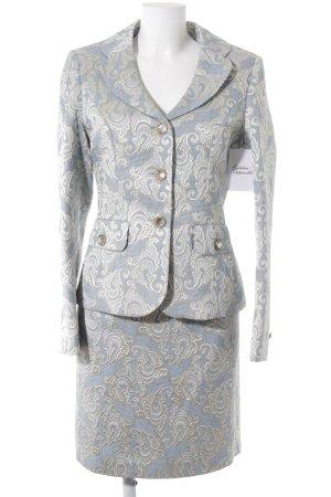Prestige Elegance Tailleur azzurro-crema motivo paisley stile classico