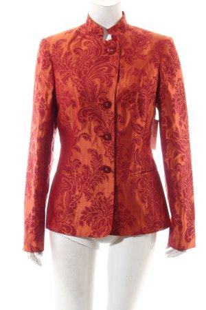 Prestige Elegance Kurz-Blazer dunkelorange-ziegelrot extravaganter Stil