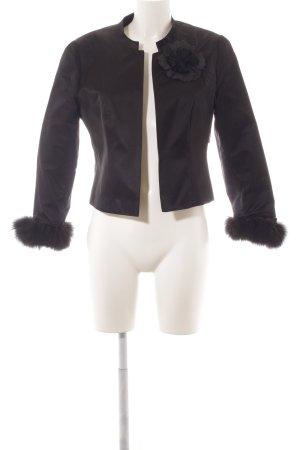Prestige Elegance Kurz-Blazer schwarz extravaganter Stil