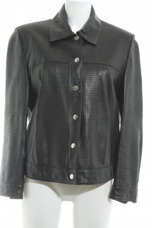 Prestige Elegance Lederjacke schwarz Casual-Look