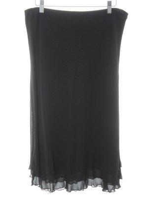 Prestige Elegance Seidenrock schwarz schlichter Stil