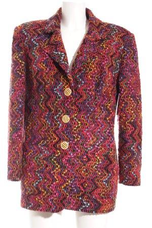 Prestige Elegance Blazer en maille tricotée multicolore style décontracté