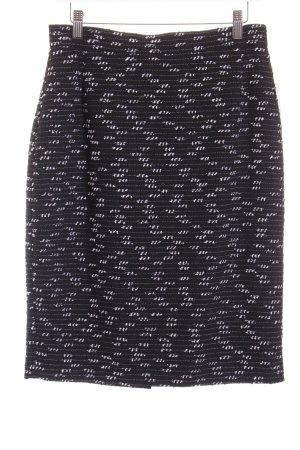 Prestige Elegance Wollrock schwarz-weiß Farbverlauf Casual-Look