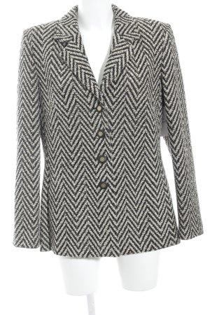 Prestige Woll-Blazer beige-schwarz Fischgrätmuster Elegant