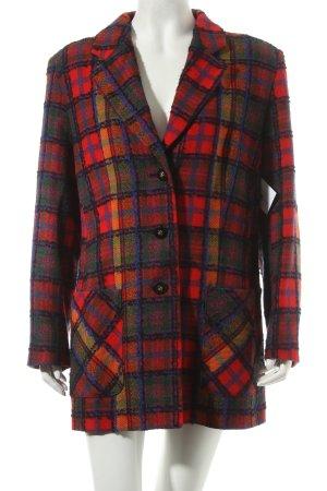 Prestige Woll-Blazer Karomuster Vintage-Look