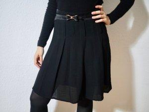 Kookai Jupe à plis noir-doré viscose