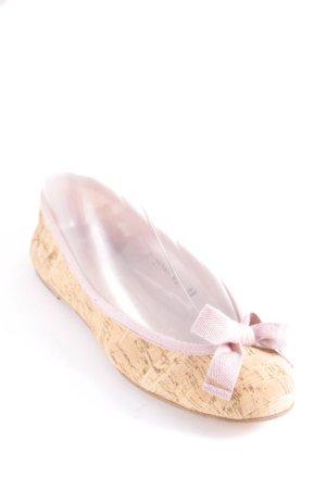 Pretty ballerinas Ballerinas altrosa-beige Holz-Optik