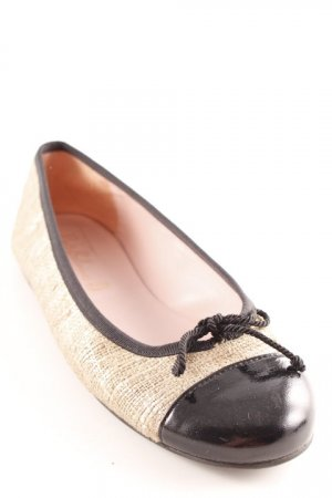 Pretty ballerinas Bailarinas plegables color oro-negro elegante