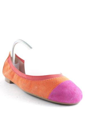 Pretty ballerinas faltbare Ballerinas orange-pink schlichter Stil