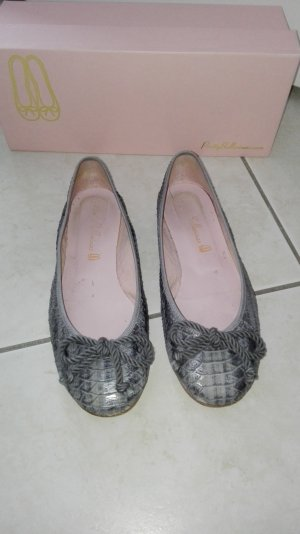 Pretty Ballerinas in silber grau 37