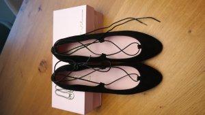 Pretty Ballerinas - Lace-up Ballerinas - schwarz/Gr. 42 - NEU