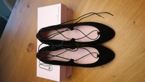 Pretty Ballerinas - Lace-up Ballerinas - schwarz/Gr. 42 - NEU