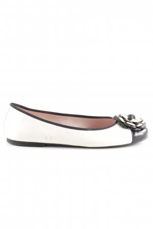 Pretty ballerinas Patent Leather Ballerinas cream-black casual look