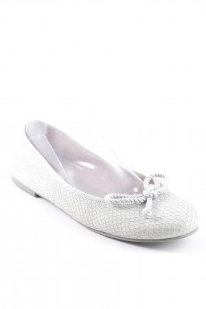 Pretty ballerinas Ballerines Mary Jane beige clair-gris clair motif animal