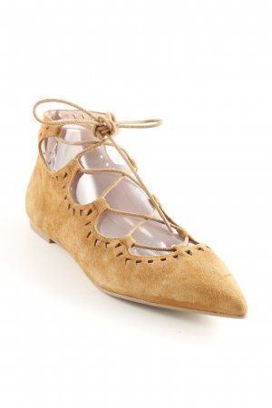 Pretty ballerinas Mary Jane Ballerinas hellbraun Business-Look