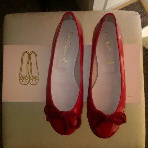 Pretty ballerinas Patent Leather Ballerinas dark red-brick red