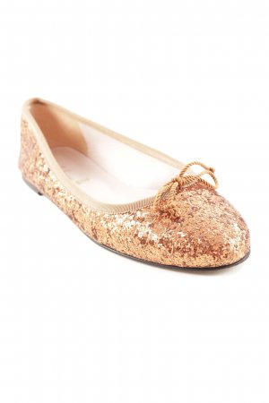 Pretty ballerinas Schlüpfschuhe bronzefarben Glitzer-Optik