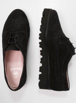 Pretty ballerinas Zapatos brogue marrón oscuro-marrón-negro Gamuza