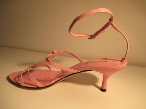 Luciano Barachini Strapped High-Heeled Sandals pink leather