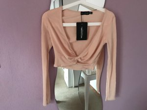 PrettyLittleThing Top corto beige-color carne