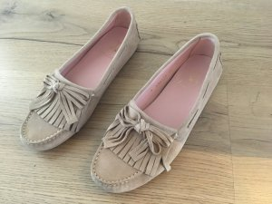 Pretty Loafers aus Wildleder beige Natur Gr. 38
