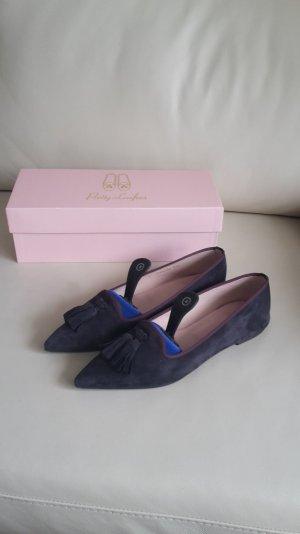 Pretty Loafers Ballerinas 38,5 Ella Angelis Tassle 43726 grau braun Wildleder