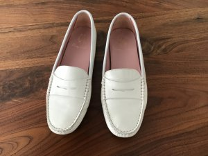 Pretty ballerinas Mocassins blanc-beige clair cuir