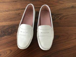 Pretty ballerinas Mocassins blanc-beige clair cuir