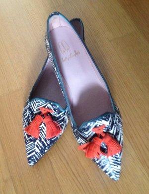 Pretty Loafers / Pretty Ballerinas in Schwarz-weiß-rot Gr. 39,5 neu