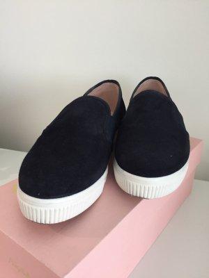 Pretty Loafers Wildleder dunkelblau Gr. 38