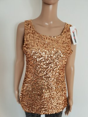 Tank Top gold-colored polyester