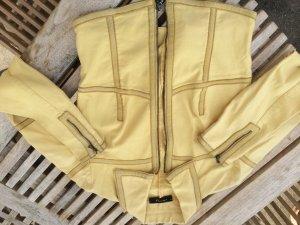 Preview Milano Jacke Hellgelb Vanille mit Lederstreifen