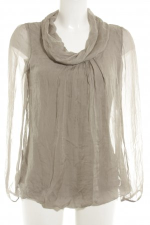 Preview Milano Seidenbluse taupe Casual-Look