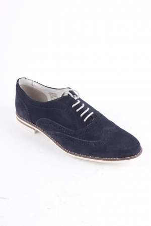 primadonna Wingtip Shoes dark blue masculine look