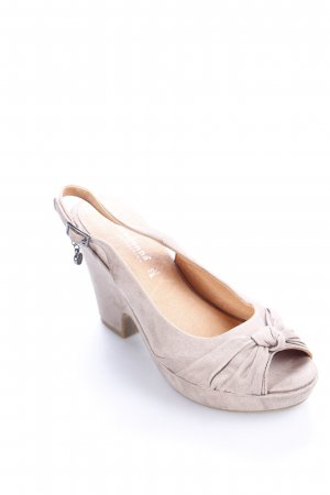primadonna Slingback-Pumps grau Party-Look