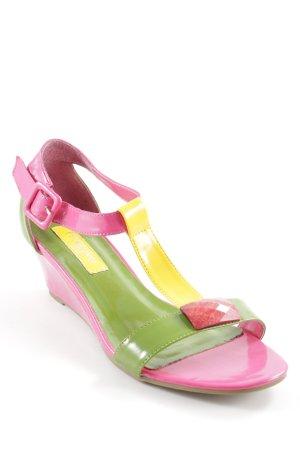 primadonna Sandalo con tacco alto e lacci a T color block elementi decorativi