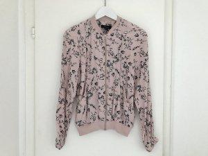 Primark Atmosphere Blazer Bomberjacke S 36 rosa Blumen Top Neuwertig Jacke