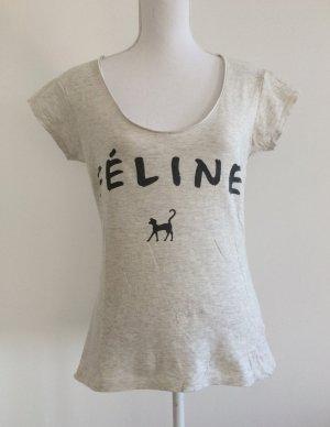 Primark Atmosphere Féline Katze Shirt Oberteil T-Shirt greige