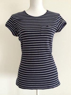Primark Atmosphere Oberteil Shirt T-Shirt dunkelblau Streifen weiß