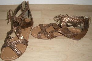 >PRIMARK/ATMOSPHERE SANDALE IN GOLD Gr.36 NEU<